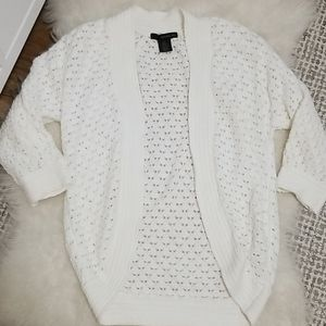Calvin Klein white knit scooped cardigan m